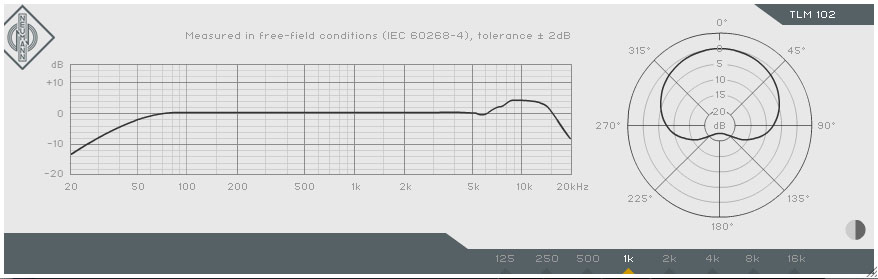 Image result for neumann tlm 102 pattern