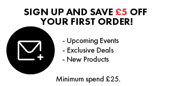 Subscribe to our newsletter and Get £5 off!