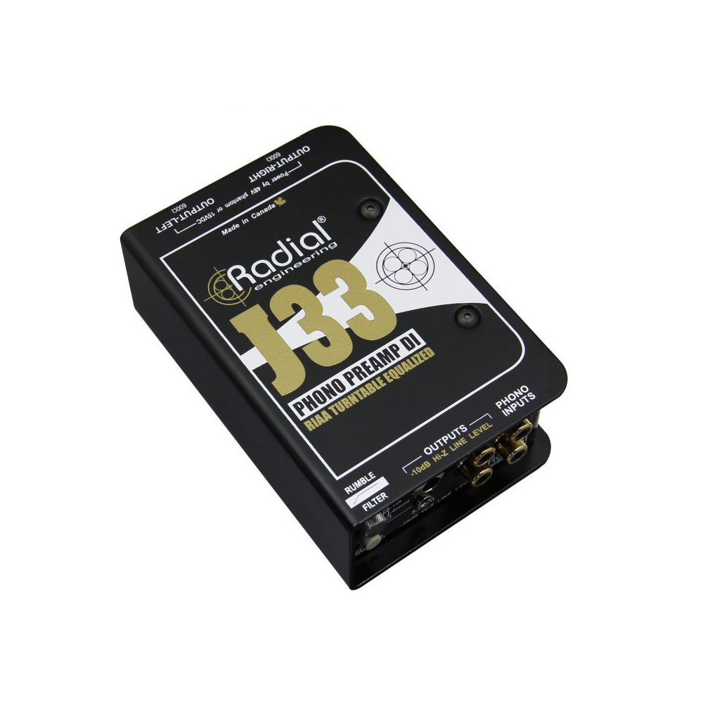 Radial J33 Active Turntable Phono Preamp Di Boxes Microphones Preamplifier For Soundcard Alternative Image 1