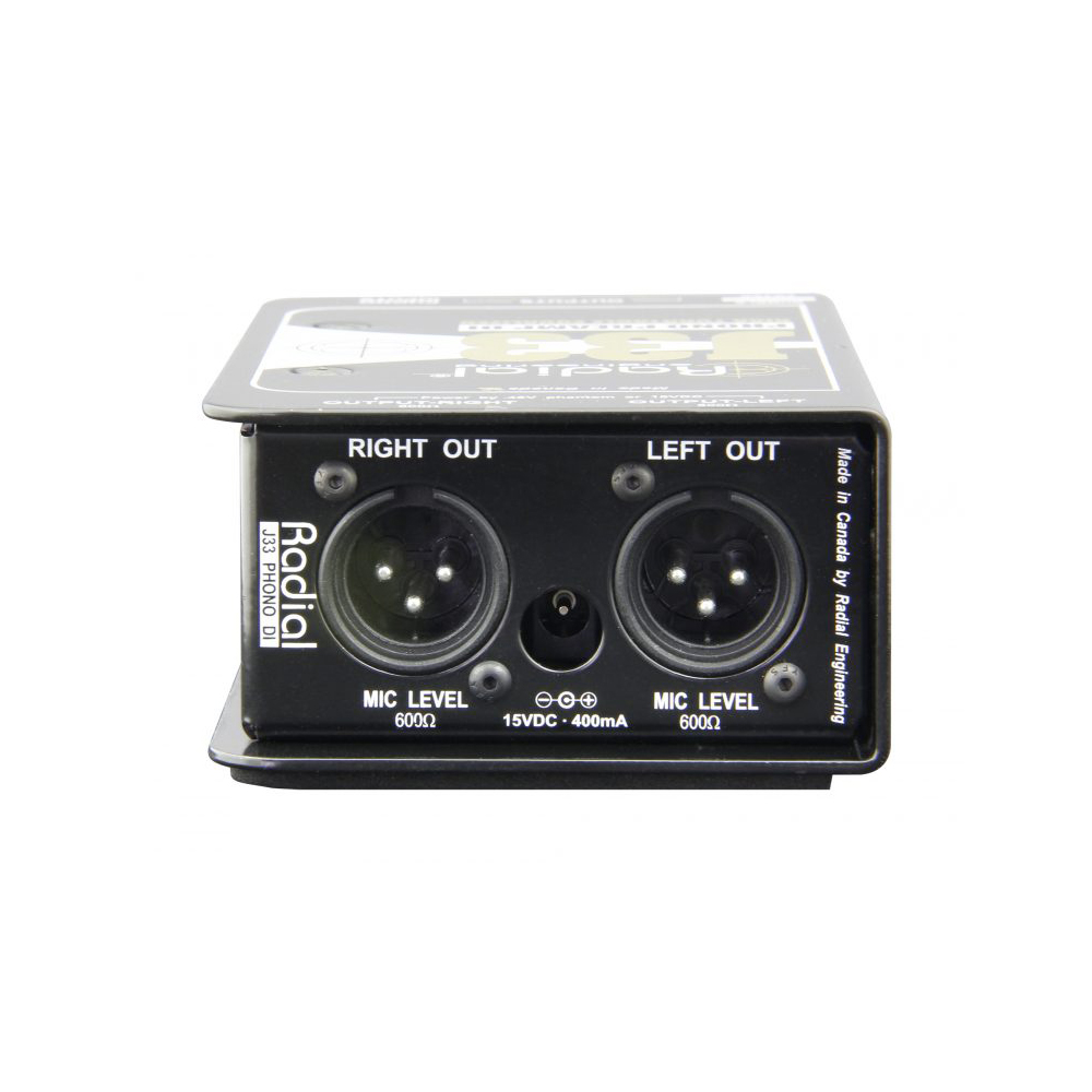 Radial J33 Active Turntable / Phono Preamp - DI Boxes - Microphones