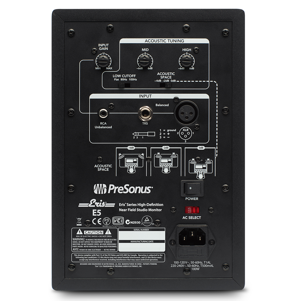 presonus eris e5 hd studio monitor studio monitors headphones speakers studiospares. Black Bedroom Furniture Sets. Home Design Ideas