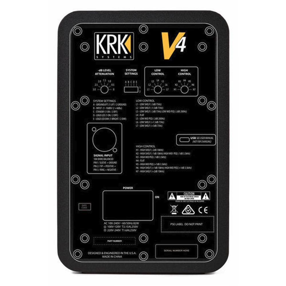 krk v4 s4 studio monitor studio monitors headphones speakers studiospares. Black Bedroom Furniture Sets. Home Design Ideas