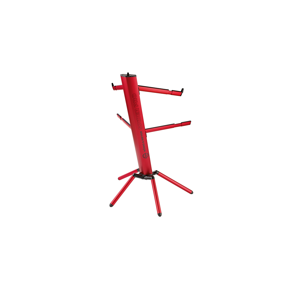 k m 18860 spider pro red keyboard stand keyboard stands accessories studiospares. Black Bedroom Furniture Sets. Home Design Ideas