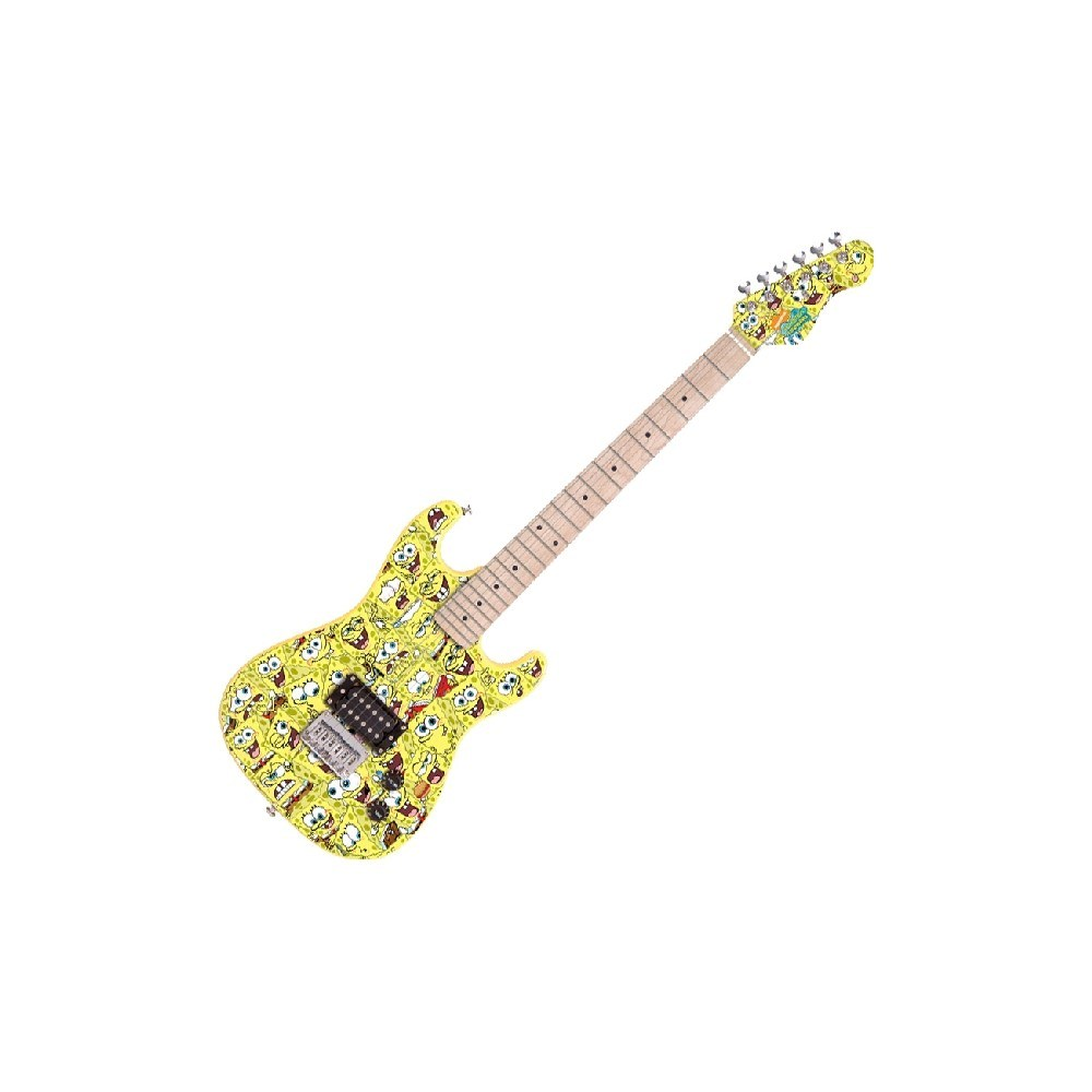 spongebob 7 8 size electric guitar outfit and mini amp bass guitars performance studiospares. Black Bedroom Furniture Sets. Home Design Ideas