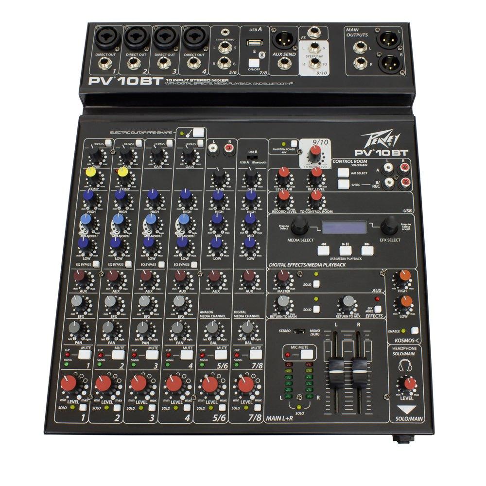 peavey pv 10 bt digital mixers studio gear studiospares. Black Bedroom Furniture Sets. Home Design Ideas