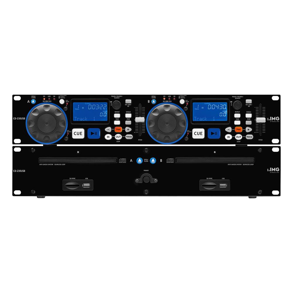 stageline cd 230usb dual dj cd mp3 player studiospares. Black Bedroom Furniture Sets. Home Design Ideas