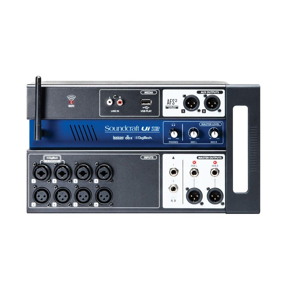 soundcraft ui12 remote control digital mixer digital mixers studio gear studiospares. Black Bedroom Furniture Sets. Home Design Ideas