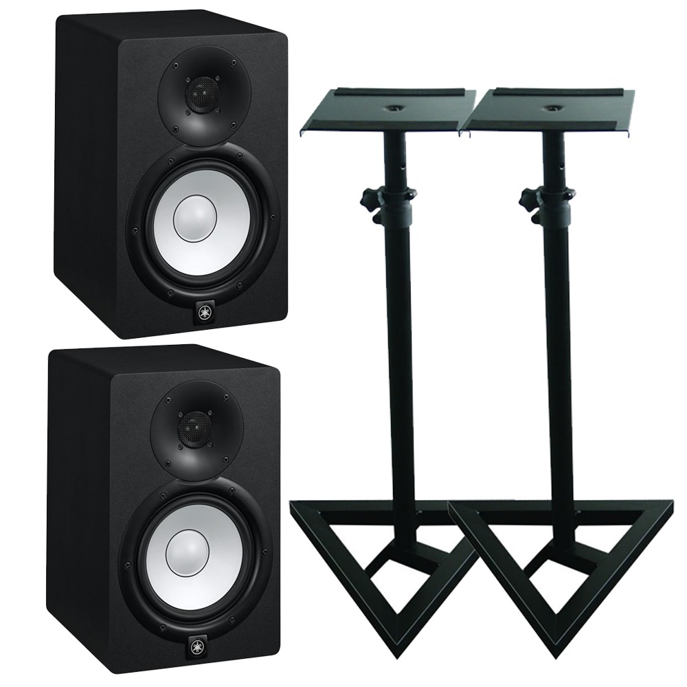 yamaha hs5 studio monitors stand bundle studio monitors