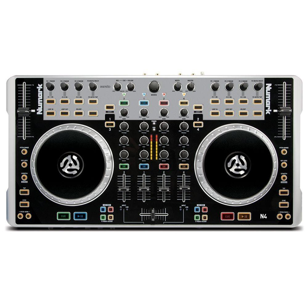 numark n4 4 deck digital controller mixer dj mixers performance studiospares. Black Bedroom Furniture Sets. Home Design Ideas