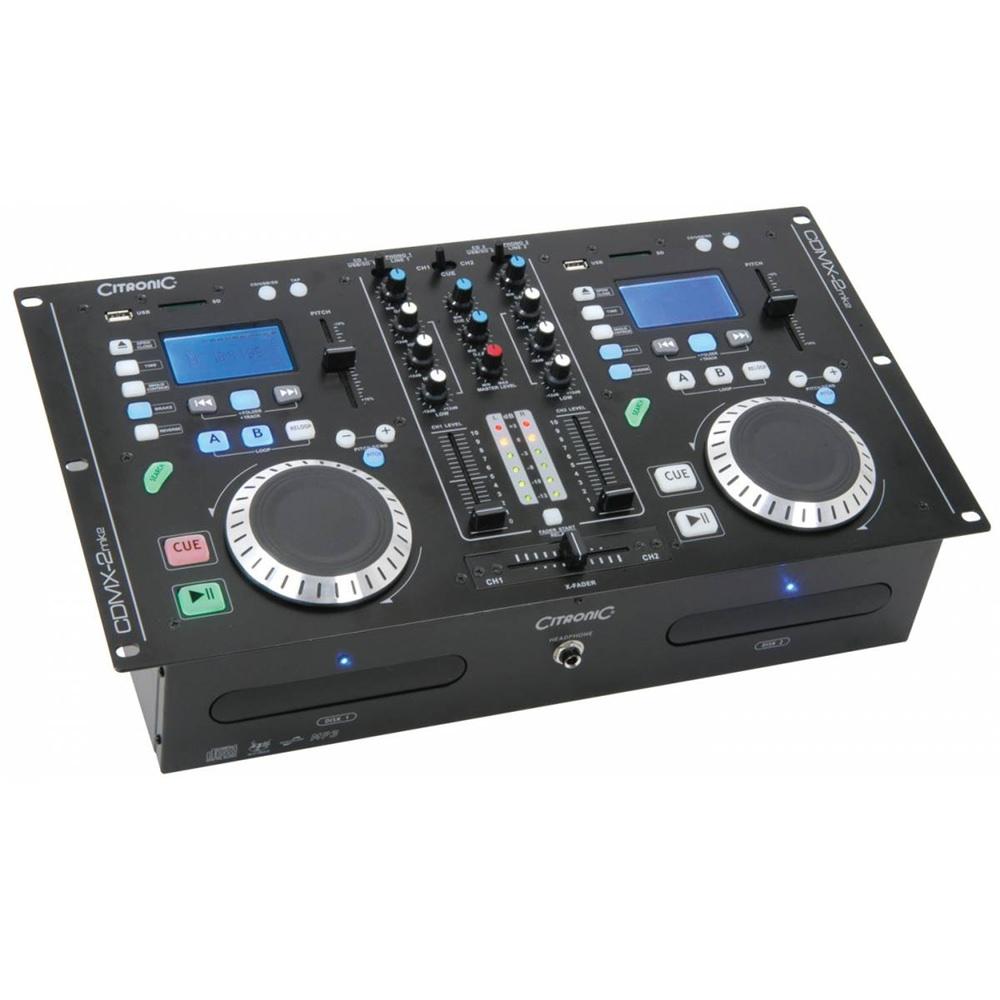 citronic cdmx 2 twin cd mp3 player mixer amp dj cd players performance studiospares. Black Bedroom Furniture Sets. Home Design Ideas