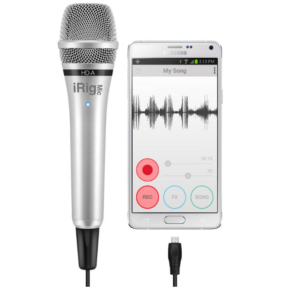 ik multimedia irig mic hd a android condenser usb mics microphones studiospares. Black Bedroom Furniture Sets. Home Design Ideas
