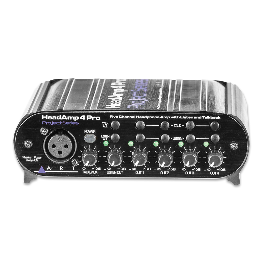 art headamp 4 pro 5 channel headphone amp with talkback headphone amps splitters. Black Bedroom Furniture Sets. Home Design Ideas