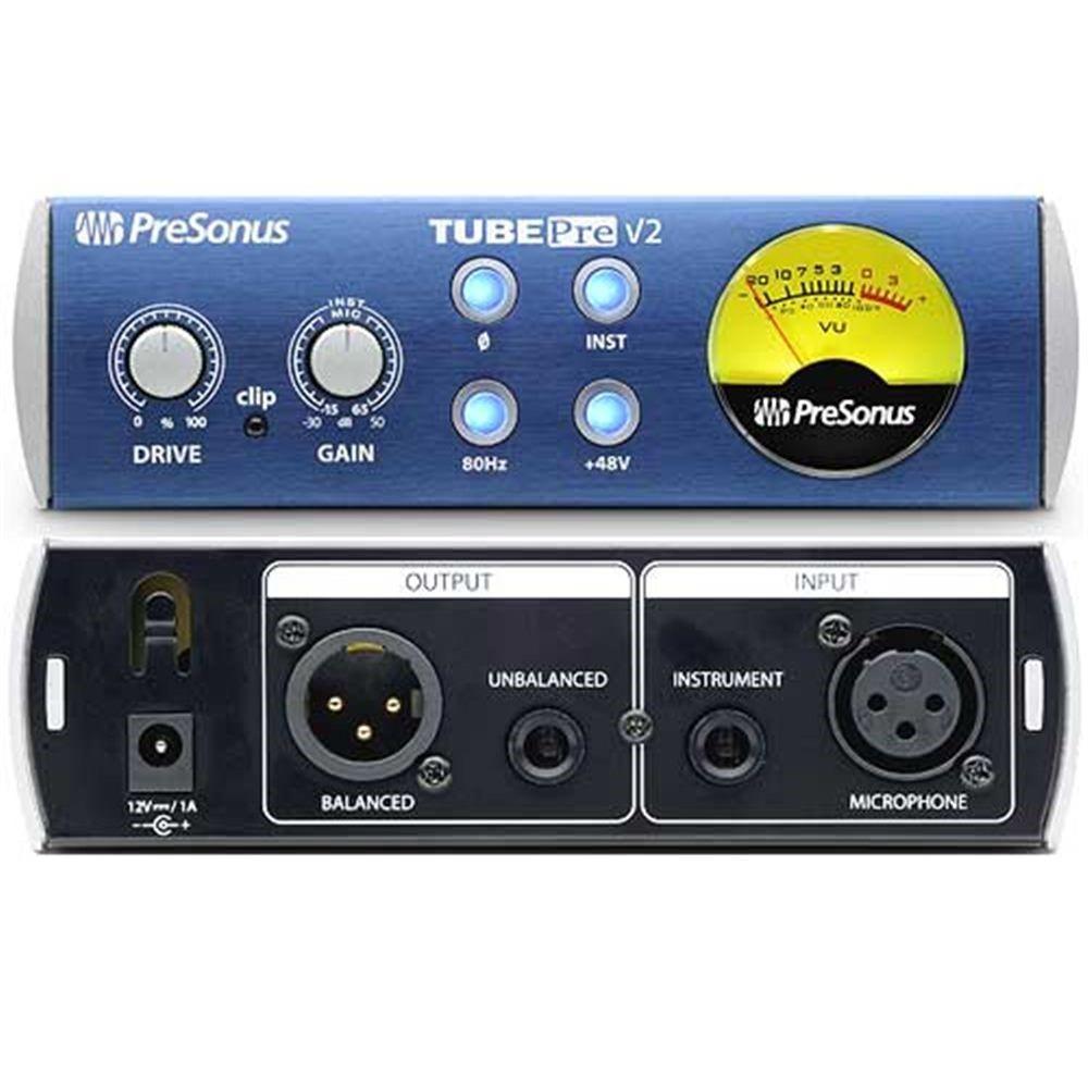 Presonus Tubepre V2 Mic Preamp Microphone Preamps Studio Gear Balanced Preamplifier