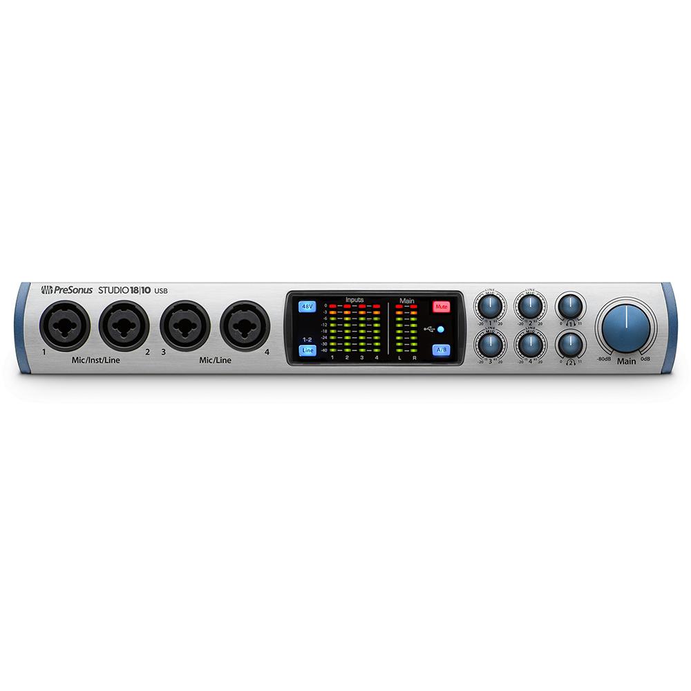 presonus studio 18 10 usb2 audio midi interface audio interfaces studio gear studiospares. Black Bedroom Furniture Sets. Home Design Ideas