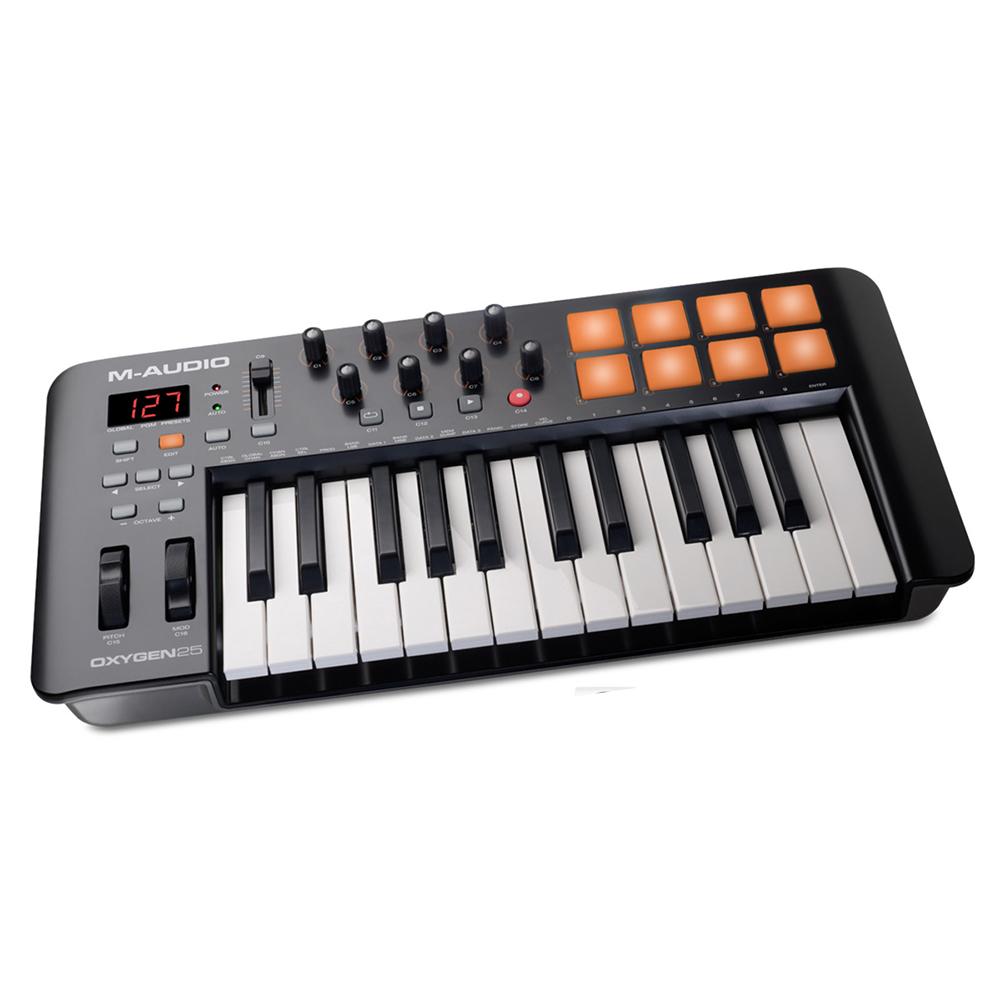 m audio oxygen 25 mkiv midi keyboard controller keyboards studio gear studiospares. Black Bedroom Furniture Sets. Home Design Ideas