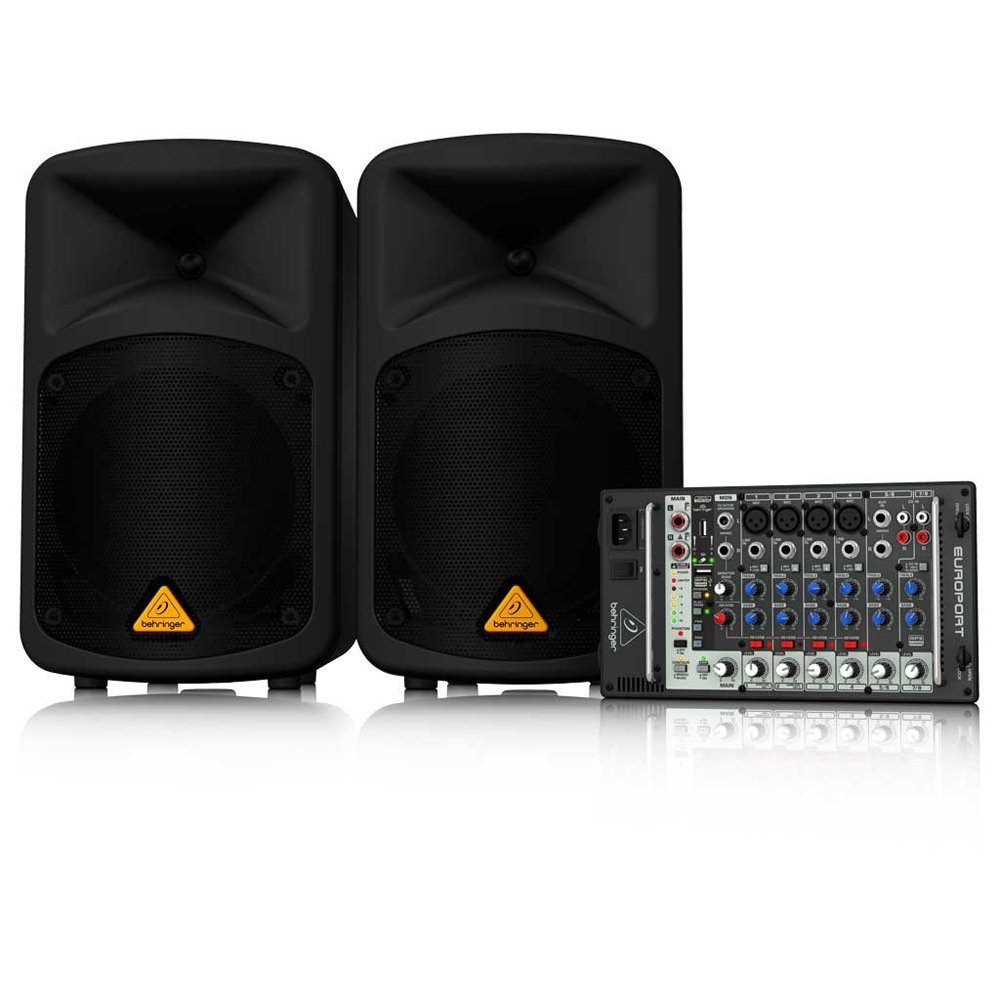 portable usb pa speaker 500 watt pair