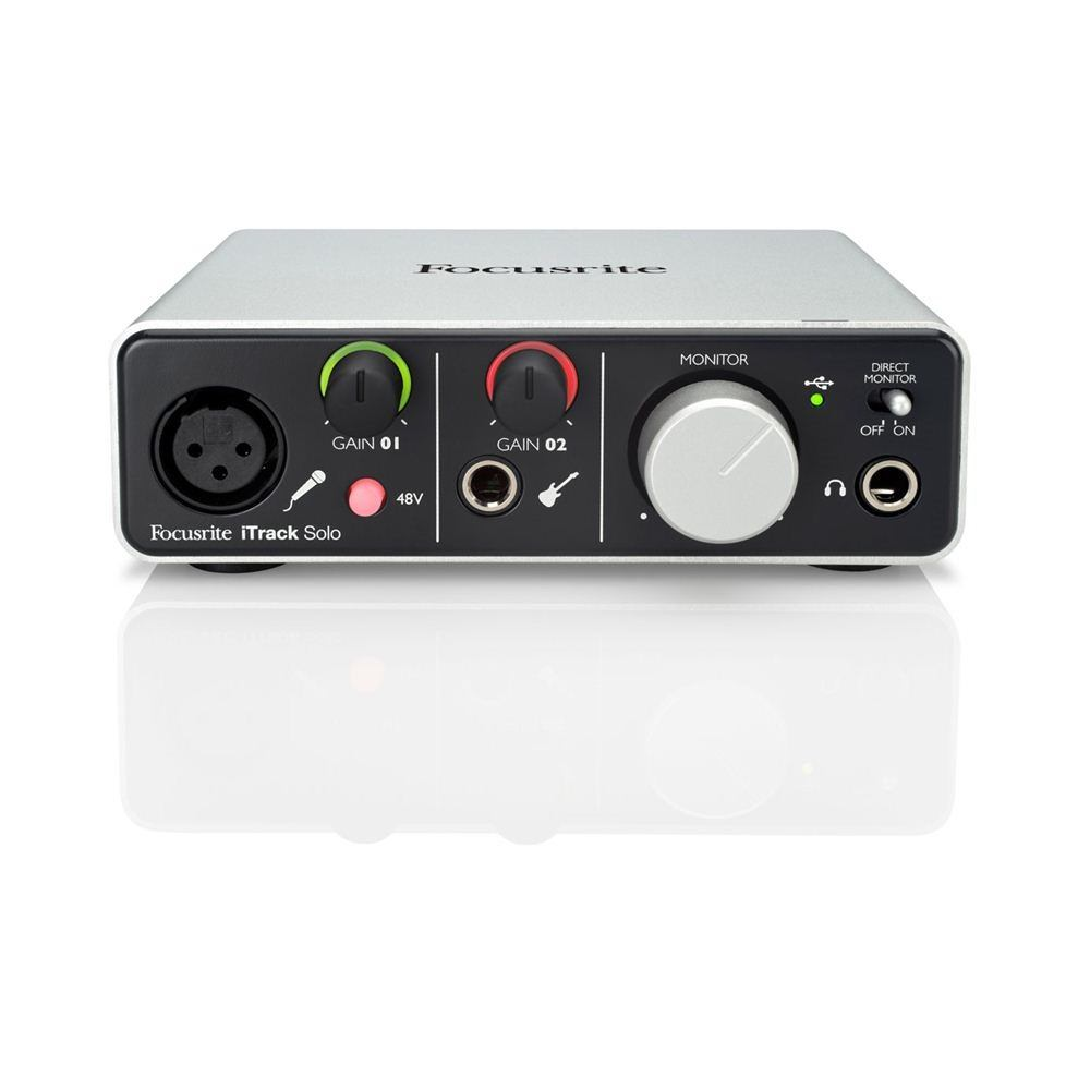 focusrite itrack solo with free headphones audio interfaces studio gear studiospares. Black Bedroom Furniture Sets. Home Design Ideas