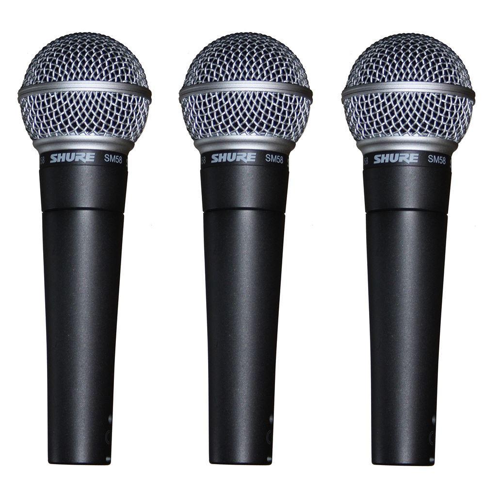 shure sm58 dynamic vocal mic 3 pack studiospares. Black Bedroom Furniture Sets. Home Design Ideas