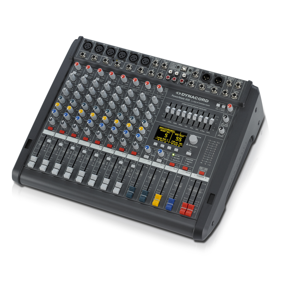 dynacord powermate 6003 8 channel compact power mixer power amplifiers studio gear. Black Bedroom Furniture Sets. Home Design Ideas