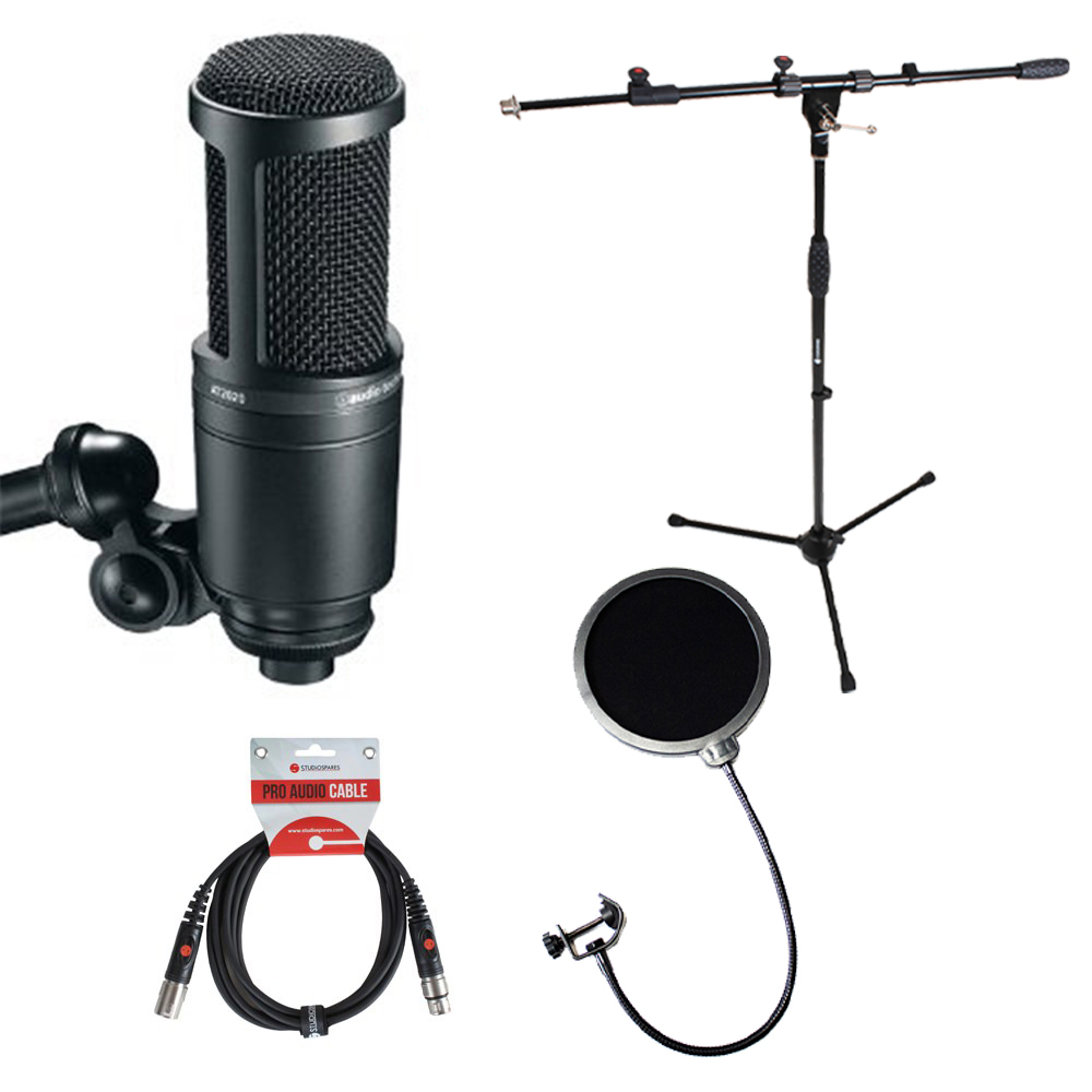 audio technica at2020 stand pop filter bundle. Black Bedroom Furniture Sets. Home Design Ideas