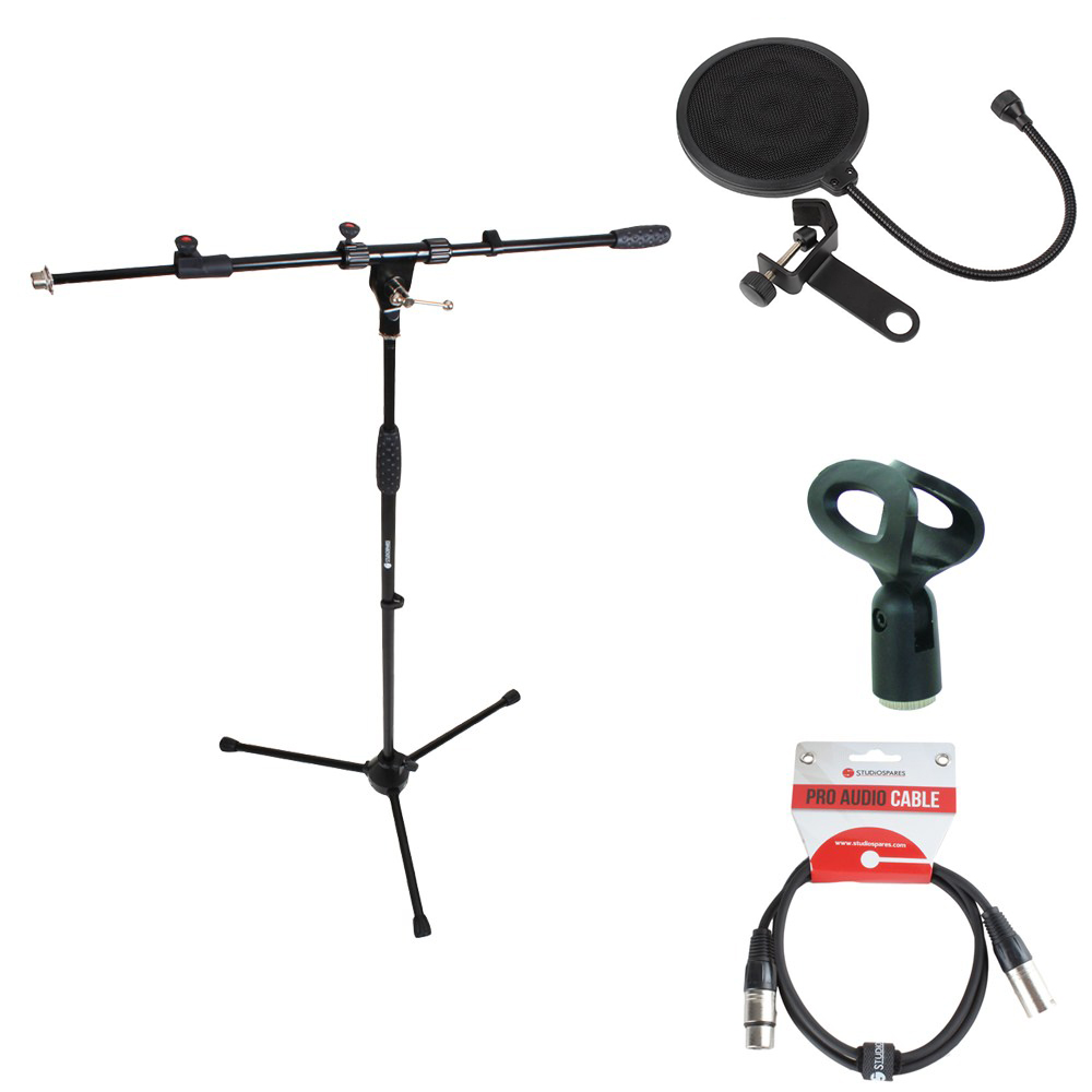 Mic stand pack 2 incl clip lead red200 mic stands for Stand pack