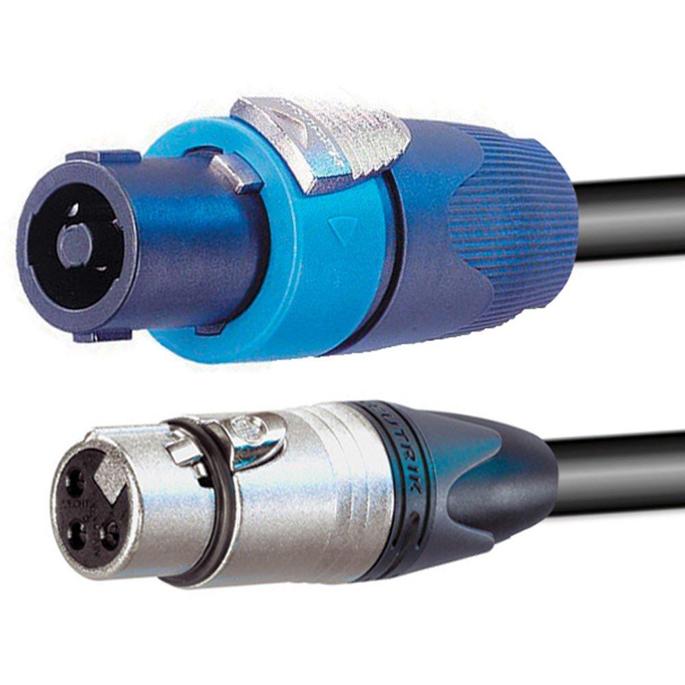 Pro Neutrik Speakon - XLR Female Cable 5m - Leads - Speaker - Cables ...