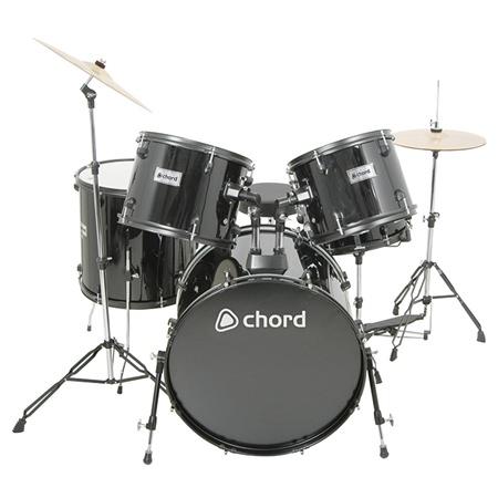 Drum drum and bass chords : Chord ADK5 Drum Kit Black - Drums - Performance - Studiospares