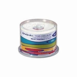 HHB DVD-R 4.7Gb X50 Cakebox Inkjet