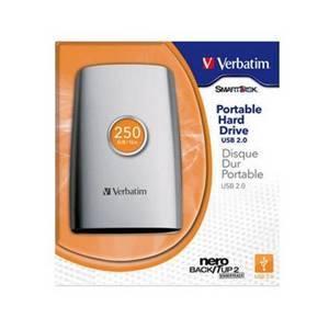 """Verbatim 250GB 2.5"""" USB External Hard Drive"""
