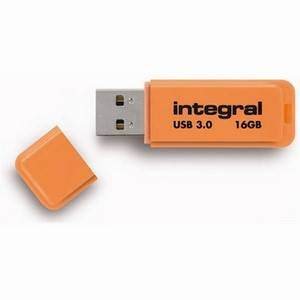 Integral Neon 16GB USB3.0 Orange Pen Drive