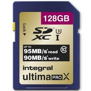 Integral SDHC/XC 128GB Ultima Pro X Card