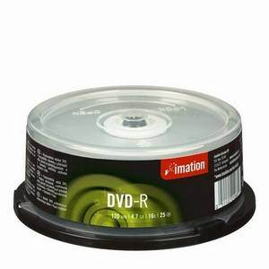 IMATION DVD-R 4.7GB X25 CAKEBOX
