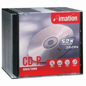 Imation CDR80 Silver CD-R in Slim Case (10-Pack)