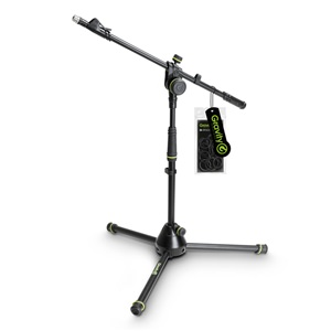 Gravity GMS4222B Short Mic Stand with Telescopic Boom