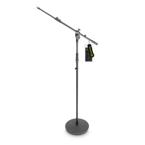 Gravity GMS2322B Round Base Mic Stand with Telescopic Boom