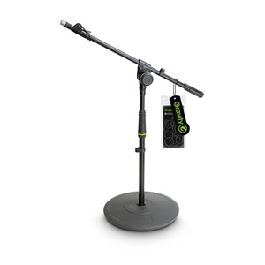 Gravity GMS2212B Short Mic Stand with Telescopic Boom