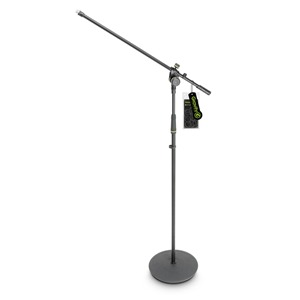 Gravity MS2321B Round Base Mic Stand with Boom