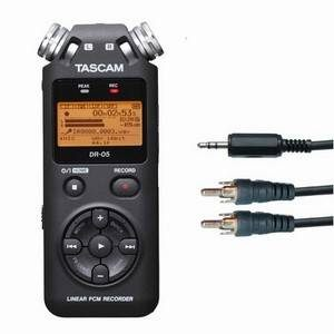 Tascam DR05 & additional Mini Jack to 2 x Phono Lead