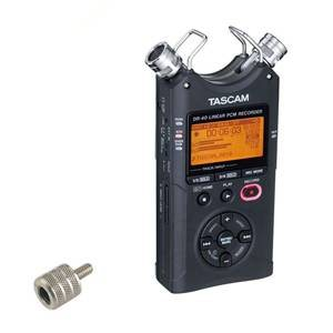 Tascam DR40 & Mic Stand Adaptor