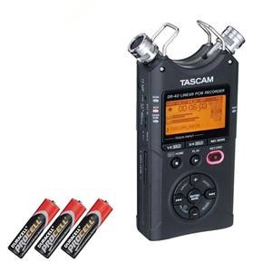 Tascam DR40 & 3 x AA Powercell