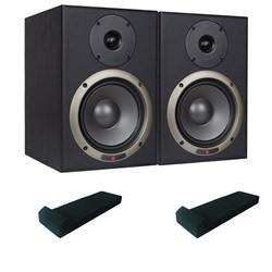 Seiwin 6A Studio Monitors + Monitor Pads