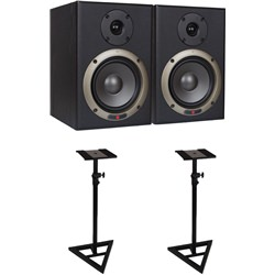 Seiwin 5A Studio Monitor + Monitor Stands