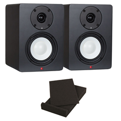 "Studiospares SN4A Active pair + 5"" Isolation Pads"