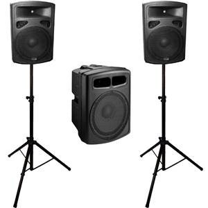 "Studiospares Fortissimo Active 15"" Sub Bundle with Stands"