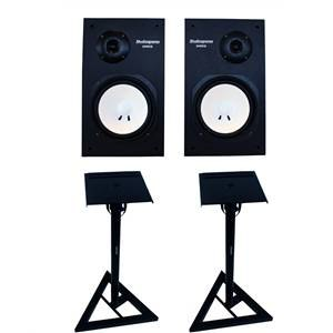 Studiospares Active Pair + Monitor Stands