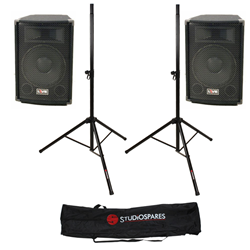 LIVE L12-A Passive PA Speaker Pair + Stands