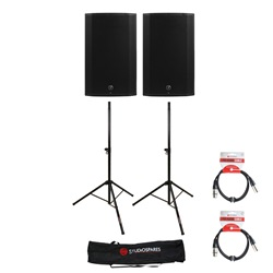 Mackie Thump 15 Pair + Stands/Bag + XLR Leads