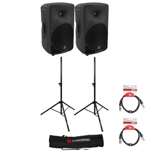 Mackie SRM350 v3 Active PA Speakers Bundle
