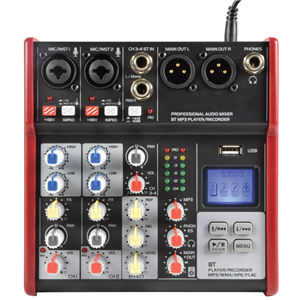 Citronic CSM-4 Compact Mixer With USB / Bluetooth 170.871UK