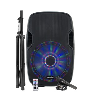Gemini AS-15BLU-LT-PK 15-inch Active Bluetooth Speaker Pack